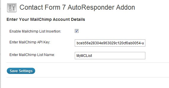Contact Form 7 AutoResponder Addon Plugin